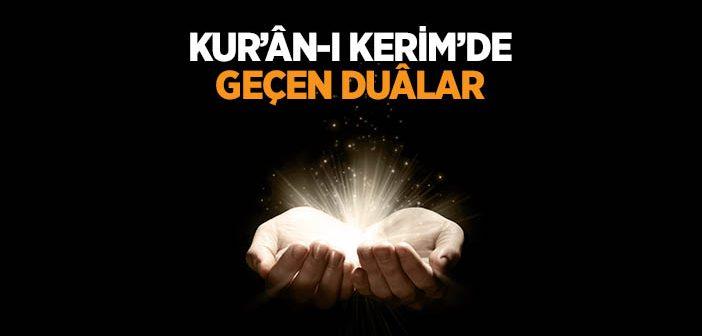 Kur'an'da Geçen Dualar