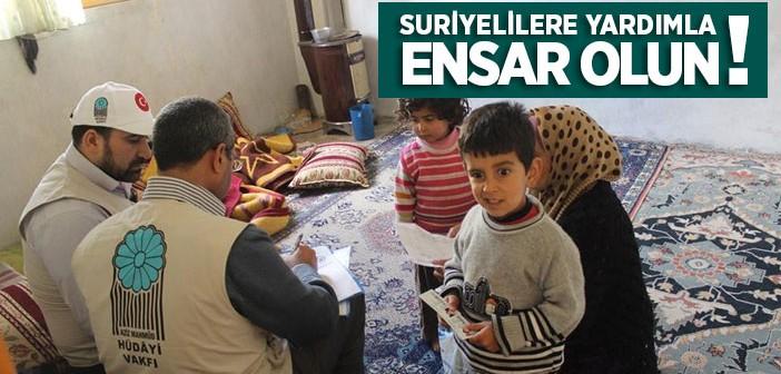 Hüdâyi'den Suriyelilere Yardım Eli