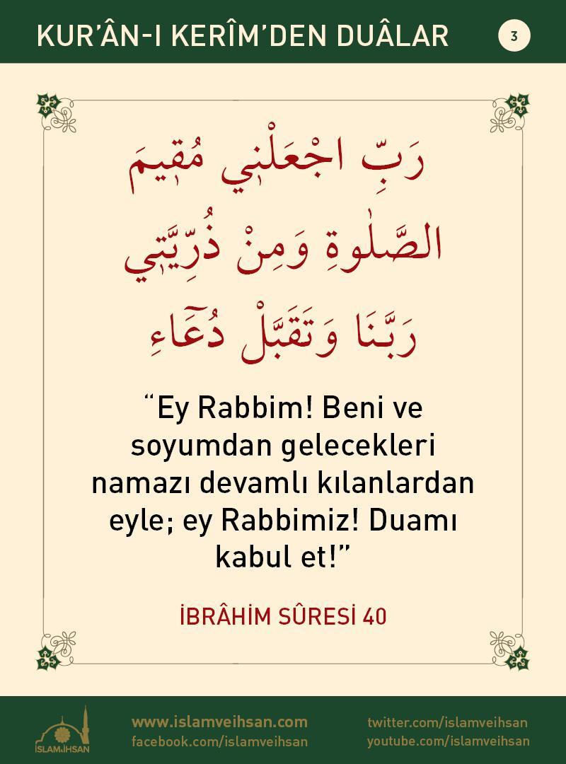 Kur'ân-ı Kerîmden Duâlar 3