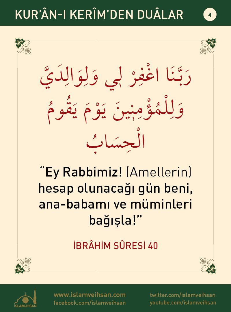 Kur'ân-ı Kerîmden Duâlar 4