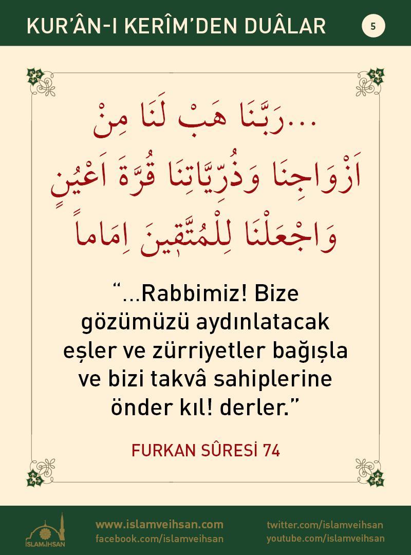 Kur'ân-ı Kerîmden Duâlar 5