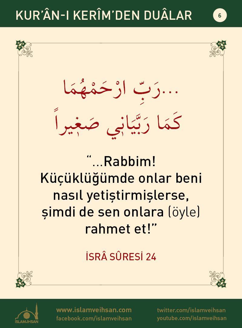 Kur'ân-ı Kerîmden Duâlar 6