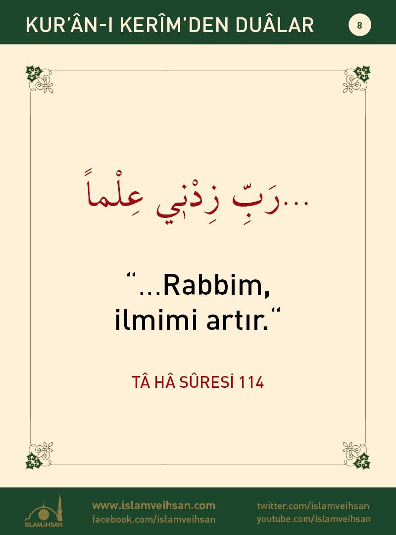 Kur'ân-ı Kerîmden Duâlar 8