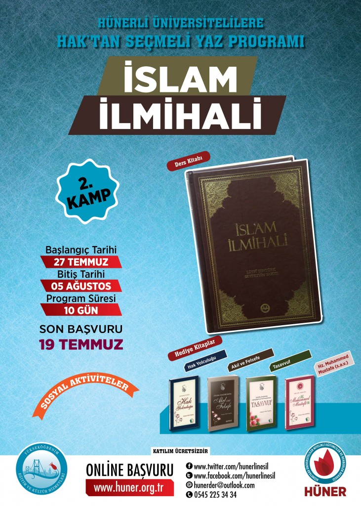 yükseköğererim anadolu YAZ PROGRAMLARI_islam ilmihali