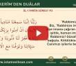 KUR'ÂN-I KERÎM'DEN DUÂLAR 16 (AL-İ İMRAN SÛRESİ  193)