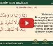KUR'ÂN-I KERÎM'DEN DUÂLAR 17 (AL-İ İMRAN SÛRESİ  194)