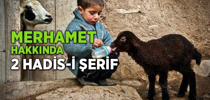 MERHAMET HAKKINDA İKİ HADİS-İ ŞERİF