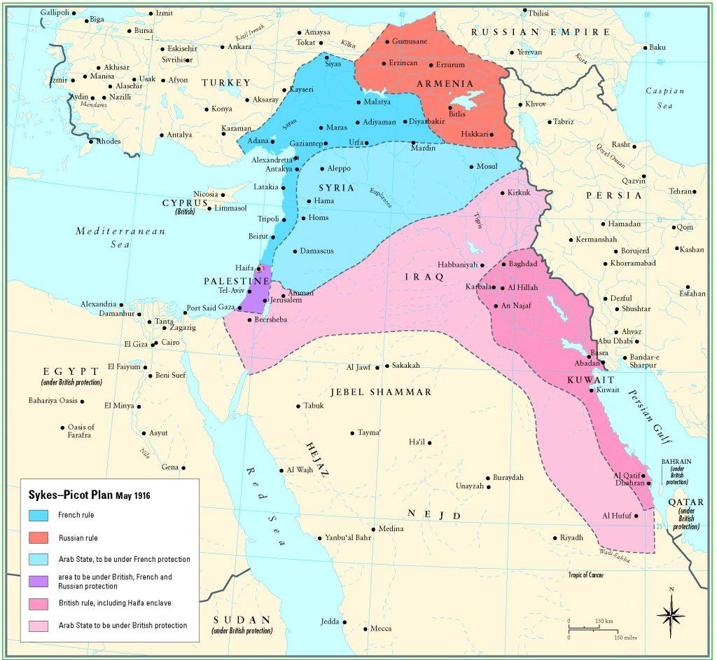 Sykes-Picot-Anlasmasi-harita