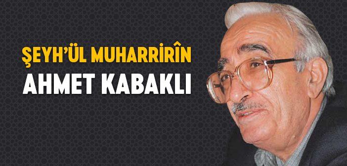 Ahmet Kabaklı Kimdir?