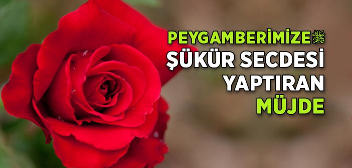 PEYGAMBER EFENDİMİZ'E ŞÜKÜR SECDESİ YAPTIRAN MÜJDE