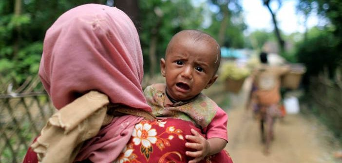 Arakanlı Müslümanlar İçin Bangladeş'teler