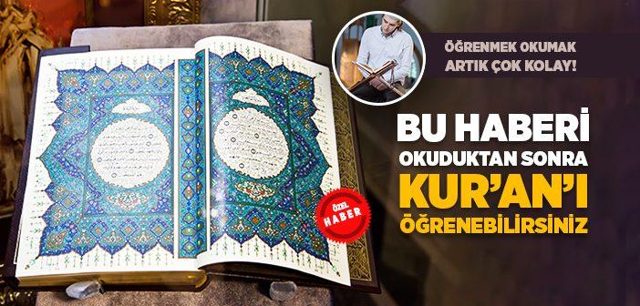 KUR'AN ÖĞRENMEK İSTİYORUM