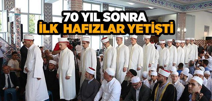ARNAVUTLUK'TA 70 YIL ARADAN SONRA İLK HAFIZLAR YETİŞTİ