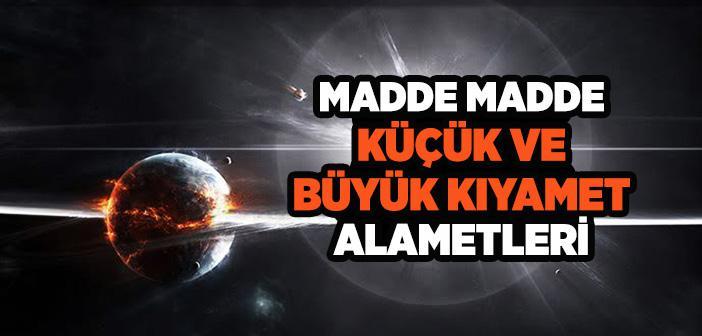 KIYAMET ALAMETLERİ MADDE MADDE
