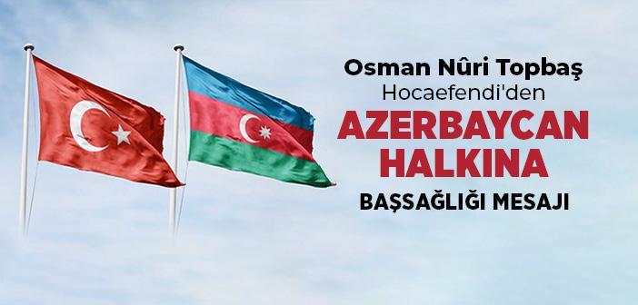 Azerbaycan Halkına Başsağlığı Diliyoruz