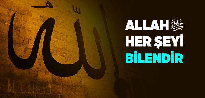 Allah Her Şeyi Bilendir