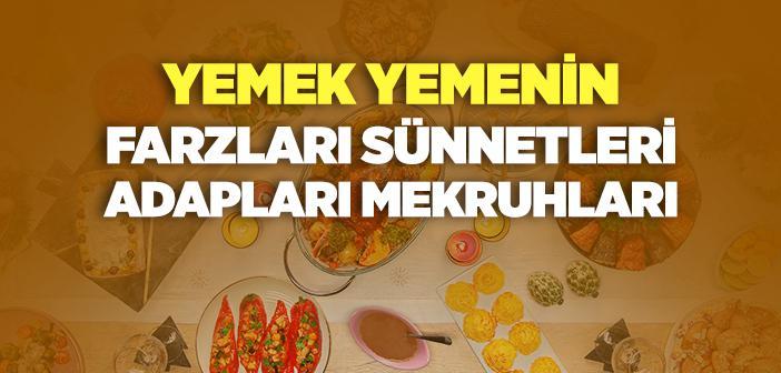 İslam'da Yemek Yeme Adabı