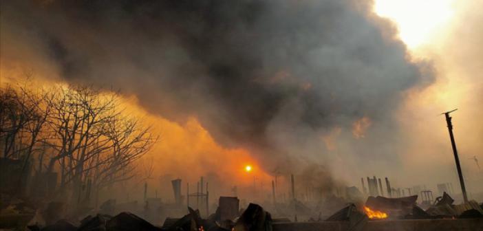 Mülteci Kampındaki Yangında 28 Arakanlı Müslüman Hayatını Kaybetti