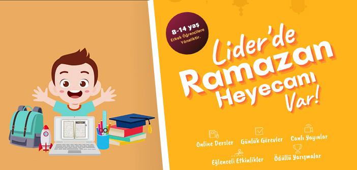Lider Eğitim 2021 Ramazan Programı Kayıtları Başladı!