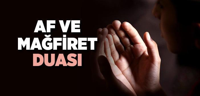 Af ve Mağfiret Duası