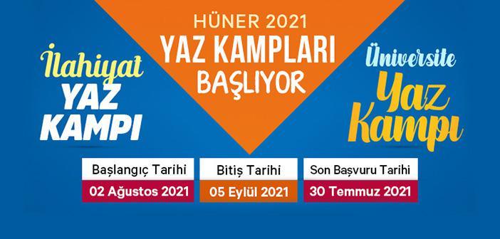 Hüner 2021 Yaz Kampları Başlıyor