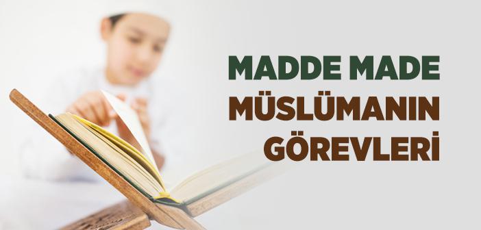 Müslümanın Görevleri