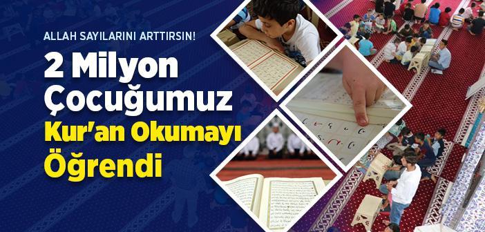 Bu Sene, Yaz Kur'an Kurslarında Yaklaşık 2 Milyon Çocuk Kur'an Okumayı Öğrendi