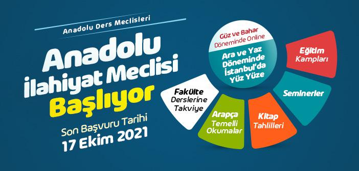 Anadolu İlahiyat Meclisi Başvuruları Başlıyor
