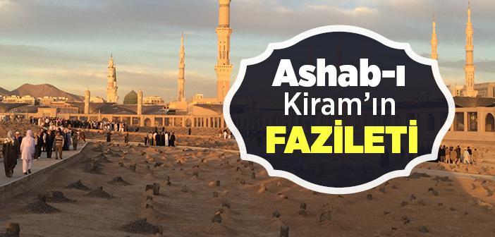 Ashab-ı Kiram'ın Fazileti