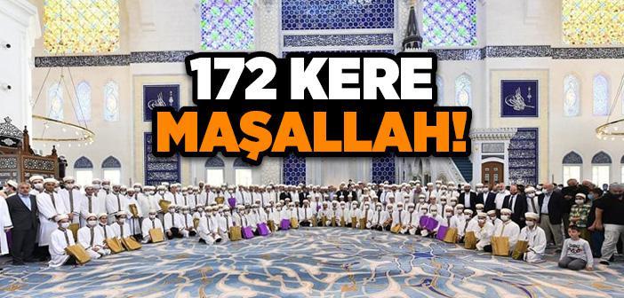 Çamlıca Camii'nde 172 Hafız İçin 'İcazet Merasimi' Düzenlendi