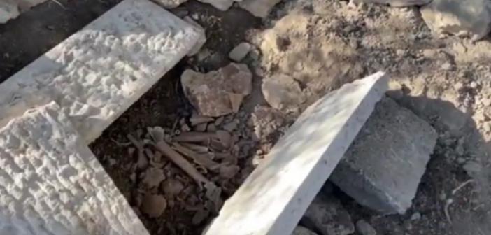 İşgalciler Filistin'in Başkenti Kudüs'te Müslüman Mezalıklarına Saldırdı